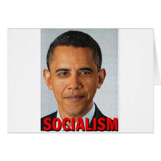 Socialismo de Prez Obama Tarjeta