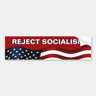 Socialismo del rechazo pegatina para auto