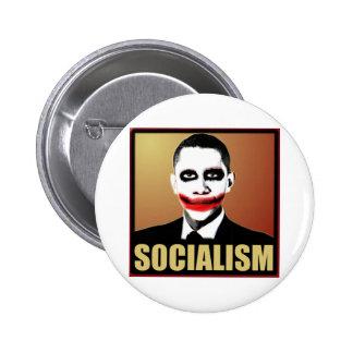 Socialismo del rechazo pin redondo de 2 pulgadas