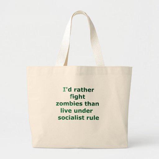 socialismo del zombi bolsa tela grande