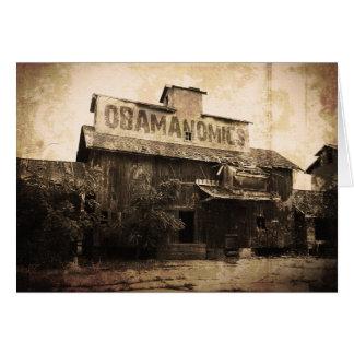 Socialismo económico de Obama Tarjeta De Felicitación