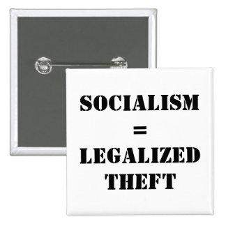 SOCIALISMO = HURTO LEGALIZADO PIN CUADRADA 5 CM