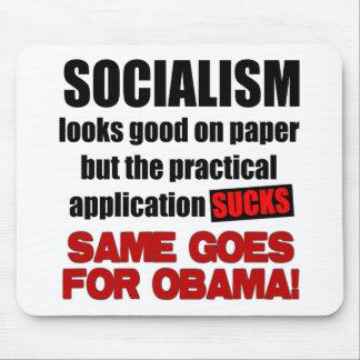 Socialismo - miradas buenas en el papel alfombrilla de ratones