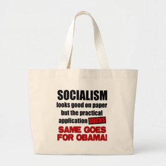 Socialismo - miradas buenas en el papel bolsas lienzo