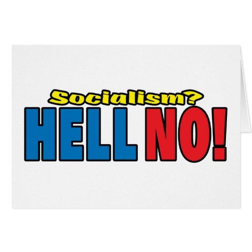 ¿Socialismo? ¡NO! Tarjeta De Felicitación