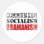 SOCIALISMO OBAMANISM Faded.png del COMUNISMO Etiqueta Redonda