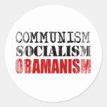 SOCIALISMO OBAMANISM Faded.png del COMUNISMO Pegatinas Redondas