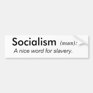Socialismo, (sustantivo): , Palabra agradable de A Pegatina Para Auto