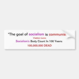 Socialism's Body Count Car Bumper Sticker