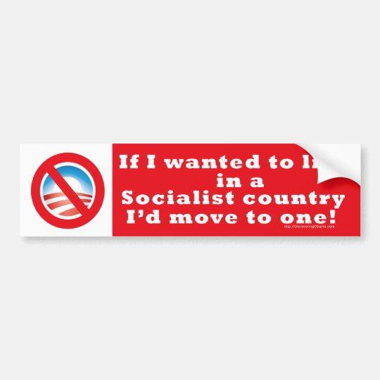 socialist country bumper sticker