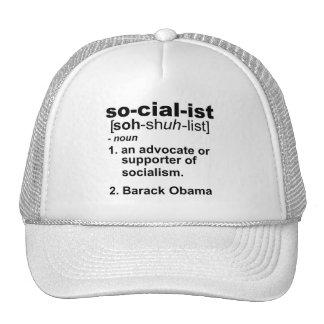 socialist definition mesh hat