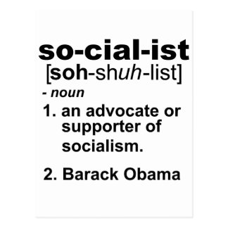socialist definition postcard