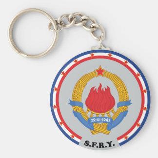 Socialist Federal Republic of Yugoslavia Emblem Keychain