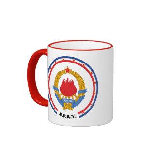 Socialist Federal Republic of Yugoslavia Emblem Ringer Mug