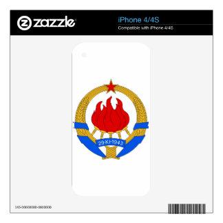 Socialist Federal Republic of Yugoslavia Emblem Skin For The iPhone 4S