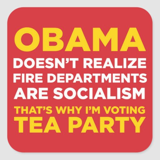 Socialist Fire Departments Square Sticker