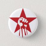 """Socialist Fist Button<br><div class=""""desc"""">Proceeds sent to the Communist Party</div>"""