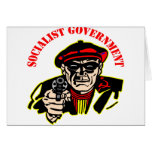 Socialist Government = Stinking Thief Greeting Card