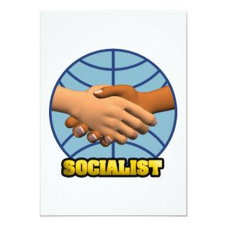 "Socialist 5"" X 7"" Invitation Card"
