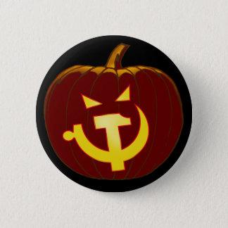 Socialist Jack-O-Lantern Pinback Button