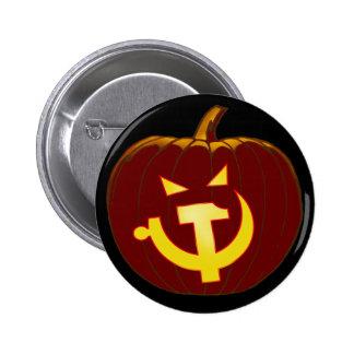 Socialist Jack-O-Lantern Pinback Buttons
