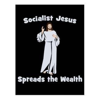 Socialist Jesus Spreads the Wealth Postcard