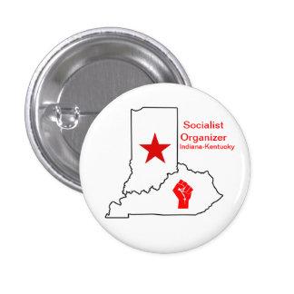 Socialist Organizer Indiana-Kentucky Pinback Button