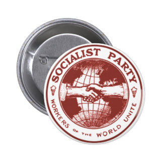 Socialist Party America Pinback Button