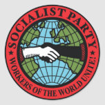 SOCIALIST PARTY USA CLASSIC ROUND STICKER