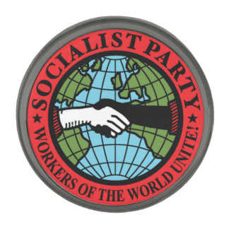 Socialist Party USA Gunmetal Finish Lapel Pin
