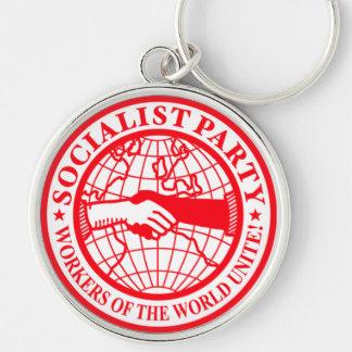 Socialist Party USA Logo Keychains