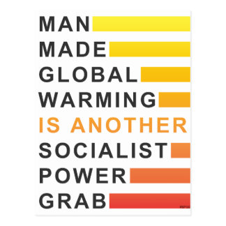 Socialist Power Grab Postcard