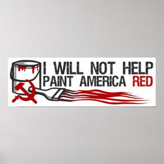 Socialist s Red Paint Print