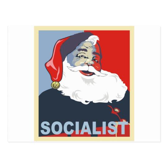 socialist santa postcard