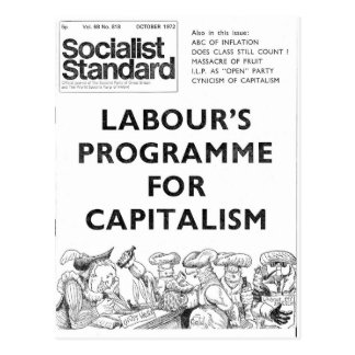 Socialist Standard October 1972 Postcard