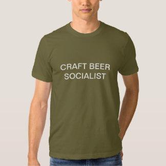 Socialista de la cerveza del arte playeras