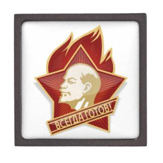 Socialista de Vladimir Lenin de la organización de Cajas De Recuerdo De Calidad