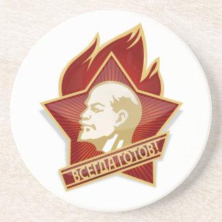 Socialista de Vladimir Lenin de la organización de Posavasos Diseño