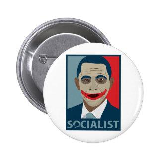 Socialista del comodín de Anti-Obama Pin Redondo 5 Cm