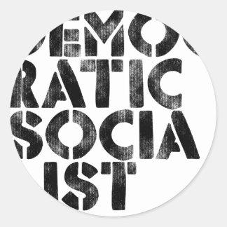 Socialista Democratic Etiquetas Redondas