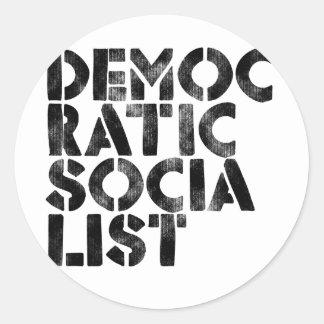 Socialista Democratic Pegatina Redonda