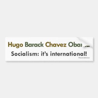 Socialistas de Hugo Barack Chavez Obama Pegatina Para Auto