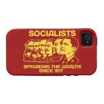 Socialistas: Extensión de la riqueza Case-Mate iPhone 4 Carcasas