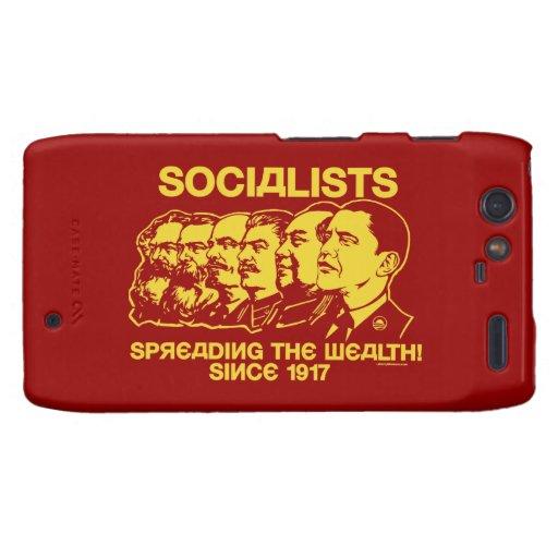 Socialistas: Extensión de la riqueza Funda Para Droid RAZR