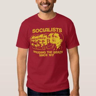 Socialistas: Extensión de la riqueza Remeras