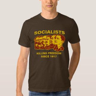 Socialistas: ¡Personalizable de Obammunist! Camisas