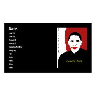 SOCIALISToBAMAJOKER, Name, Address 1, Address 2... Double-Sided Standard Business Cards (Pack Of 100)