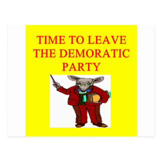 socialists  have hijacked the democratic party postcard