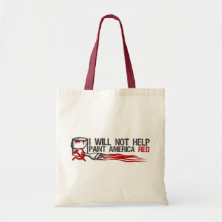 Socialist's Red Paint Tote Bag