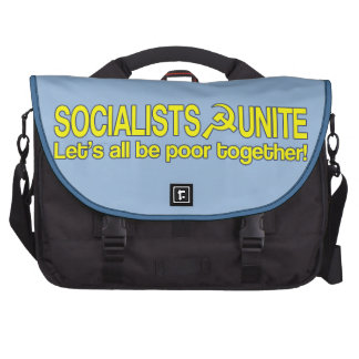 SOCIALISTS UNITE - Let s all be poor together Laptop Bags